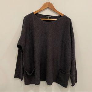 Eileen Fisher 1X Merino Wool Crew Neck Sweater